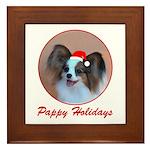 Pappy Holidays (sable santa hat) Framed Tile