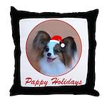 Pappy Holidays (sable santa hat) Throw Pillow