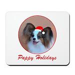 Pappy Holidays (sable santa hat) Mousepad