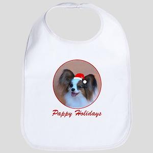 Pappy Holidays (sable santa hat) Bib