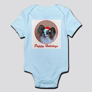 Pappy Holidays (sable santa hat) Infant Creeper