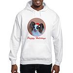 Pappy Holidays (sable santa hat) Hooded Sweatshirt