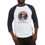 Pappy Holidays (sable santa hat) Baseball Jersey