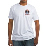 Pappy Holidays (sable santa hat) Fitted T-Shirt