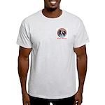Pappy Holidays (sable santa hat) Ash Grey T-Shirt