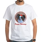 Pappy Holidays (sable santa hat) White T-Shirt