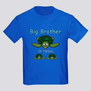 Big Bro Twin Turtle Kids Dark T-Shirt
