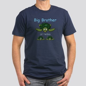 Big Bro Twin Turtle Men's Fitted T-Shirt (dark)