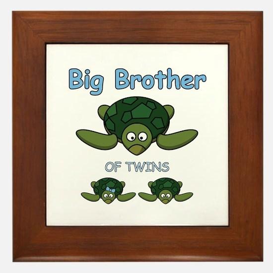 Big Bro Twin Turtle Framed Tile