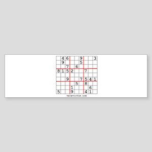 """""""Sudoku puzzle"""" Bumper Sticker"""