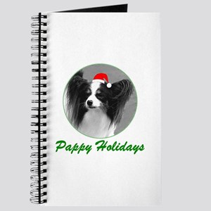 Pappy Holidays (b/w santa hat) Journal