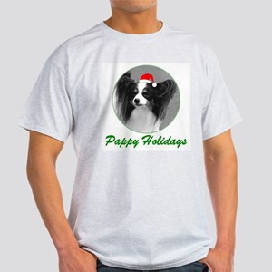 Pappy Holidays (b/w santa hat) Ash Grey T-Shirt