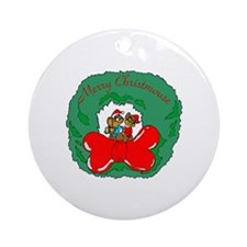 Merry Christmouse Ornament (Round)