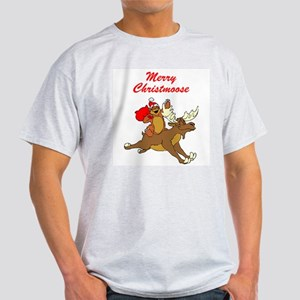 Merry Christmoose Ash Grey T-Shirt