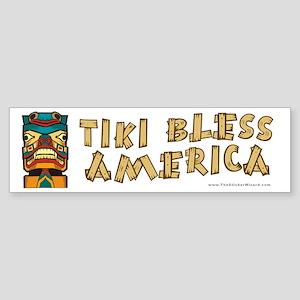 Tiki Bless America Bumper Sticker