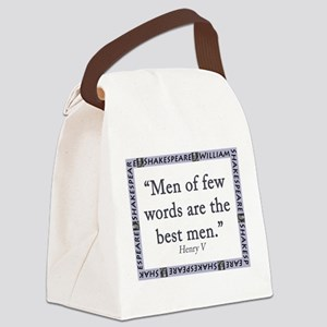 Men Of Few Words Canvas Lunch Bag