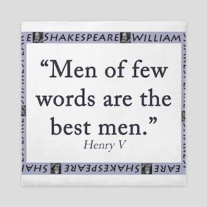 Men Of Few Words Queen Duvet