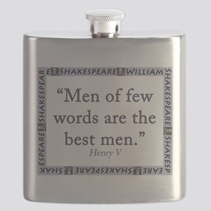 Men Of Few Words Flask