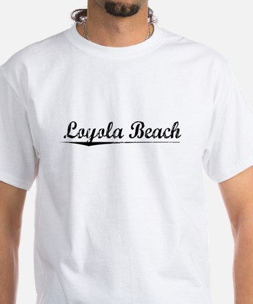 Loyola Beach, Vintage White T-Shirt