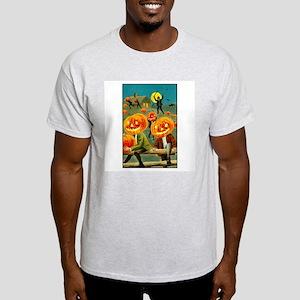Jack-o-lanterns Ash Grey T-Shirt