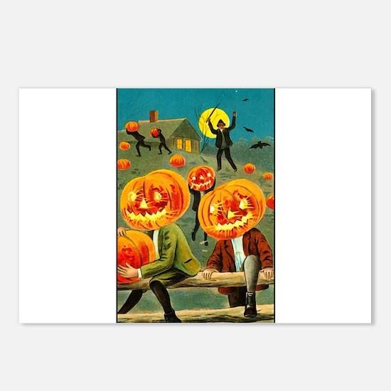 Jack-o-lanterns Postcards (Package of 8)