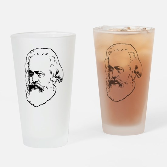 Cute Karl marx Drinking Glass