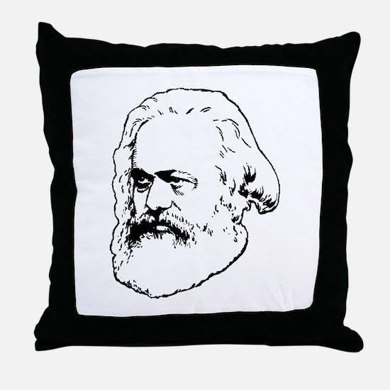 Unique Marx Throw Pillow