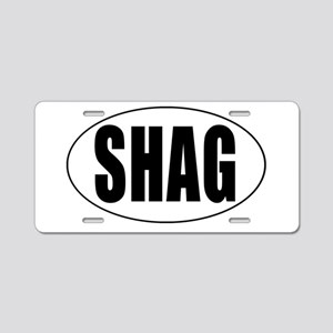 Shag Euro Oval Sticker Aluminum License Plate