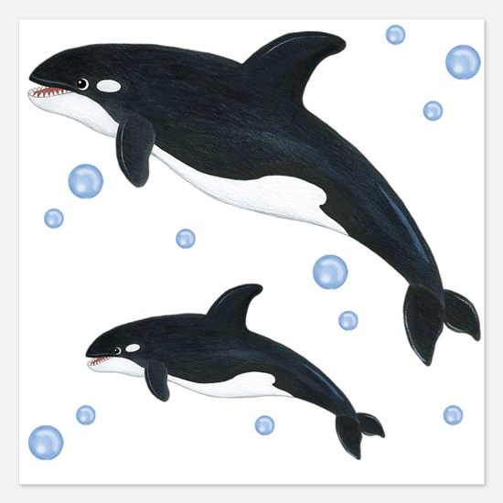 Killer Orca Whales Invitations