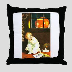 A Thrilling Halloween Throw Pillow