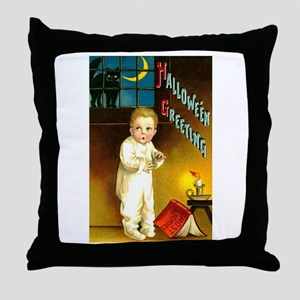 Hallowe'en Greetings Throw Pillow