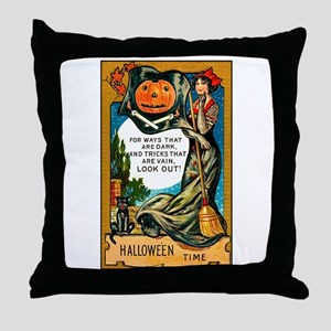 Pirate Witch Throw Pillow