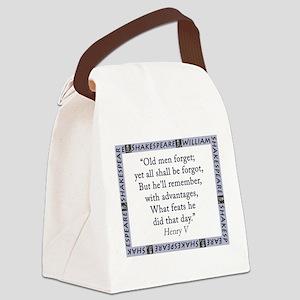 Old Men Forget Canvas Lunch Bag