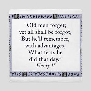 Old Men Forget Queen Duvet