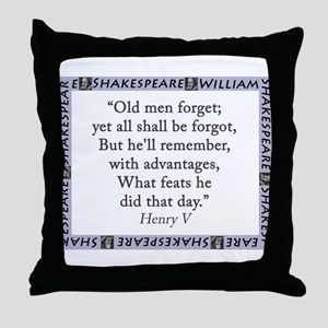 Old Men Forget Throw Pillow