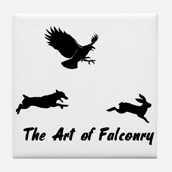 JRT and Falconry Tile Coaster