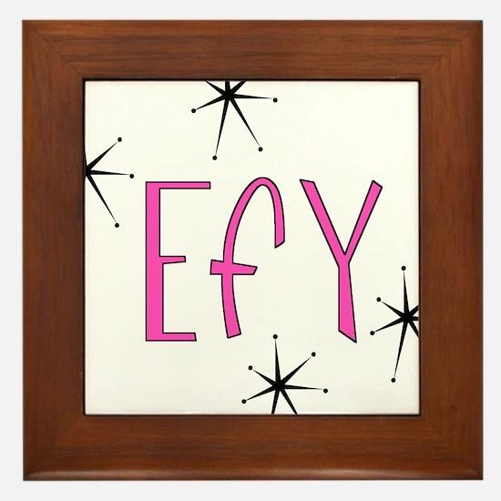 """EFY """"60s Mod"""" Framed Tile"""