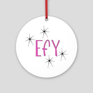 "EFY ""60s Mod"" Ornament (Round)"