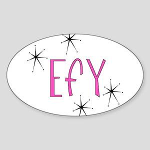 """EFY """"60s Mod"""" Oval Sticker"""