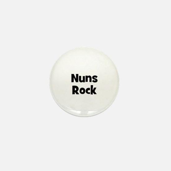 NUNS Rock Mini Button