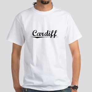 Cardiff, Vintage White T-Shirt