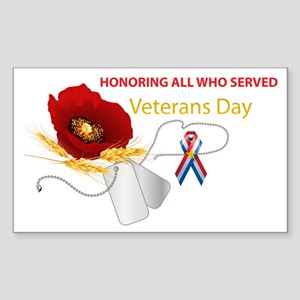 Veterans Day Sticker (Rectangle 10 pk)