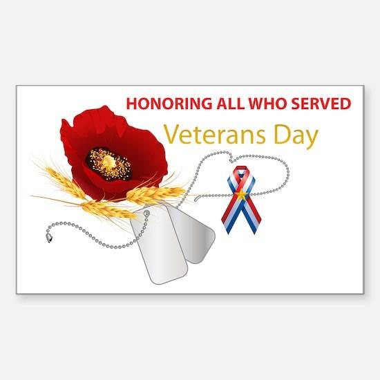 Veterans Day Sticker (Rectangle 10 pk)