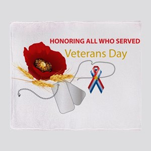Veterans Day Throw Blanket