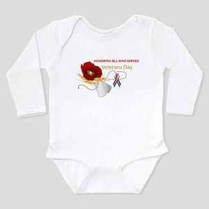 Veterans Day Long Sleeve Infant Bodysuit