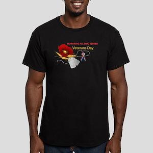 Veterans Day Men's Fitted T-Shirt (dark)