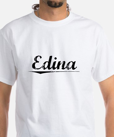 Edina, Vintage White T-Shirt