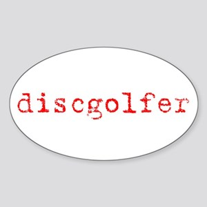 Disc Golf Propoganda Oval Sticker