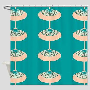 Mid-Century Modern Design Shower Curtain