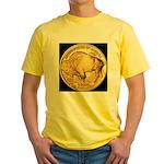 Black-Gold Buffalo-Indian Yellow T-Shirt